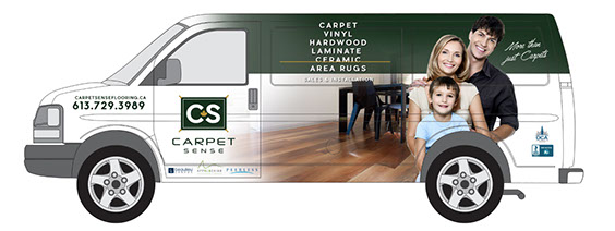 Carpet Sense Delivery Van
